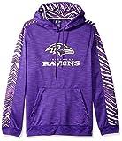 Zubaz NFL Baltimore Ravens Mens Slub Hoodpullover Hood,...