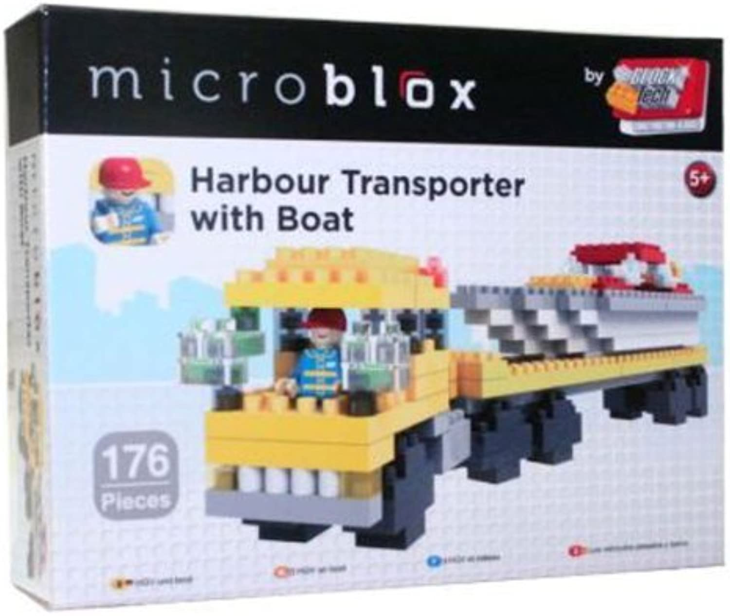 Grafix Microblox Building Bricks Harbour Transporter with Boat by Microblox