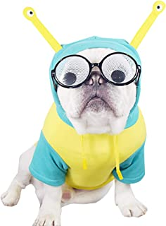 CT COUTUDI Alien Dog Costume Puppy Funny Hoodie Shirt for French Bulldog Pug Bichon Frisé Standard Schnauzer Poodle