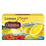 Six 20-count boxes of Lemon Zinger Herbal tea bags Blended with hibiscus for tart flavor Caffeine and gluten-free No artificial flavors, colors or artificial preservatives Steep in hot water for 4-6 minutes for the perfect cup