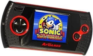 At Games GP1024 SEGA Handheld Arcade Gamer with 30 8-Bit Games Built-In, Black,