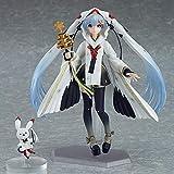 POOO Grúa de Cabeza roja de Anime clásico, Figura de Nieve de Hatsune, Adornos, grúa, Bruja, Figura ...
