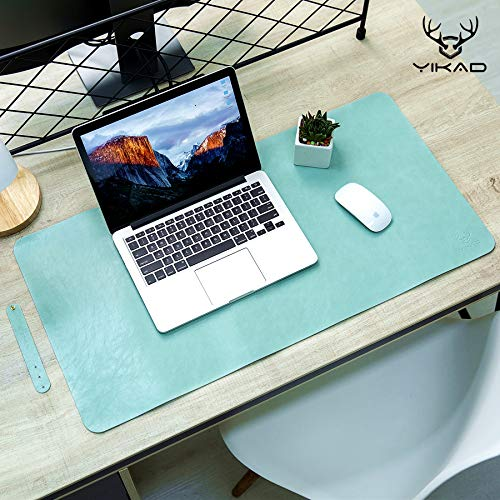 Yikda Extended Leather Gaming Mouse Pad / Mat, Large Office Writing Desk Computer Leather Mat Mousepad,Waterproof,Ultra Thin 1.2mm - 31.5'x15.7' (Mint Green)