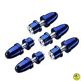 5 x adaptadores de helice Aluminio 3,0 / 3,17 / 4,0 mm con Eje de 5 mm para Motores Brushless deTrecce (Azul, 3.00)