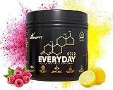Everyday Gold All-in-one Supplement Powder | Raspberry Lemon | Immune Boost Multivitamin | Preworkout | Electrolytes | Nootropics | Keto-Friendly | Vegan Certified