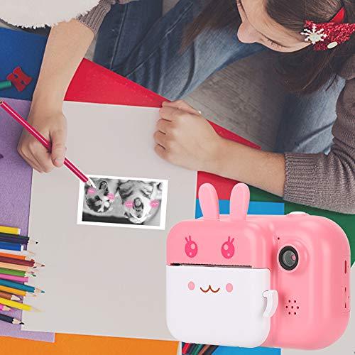IDWT Cámara para niños, Impresora fotográfica Colgante Selfie con un Clic, para Grabar Videos Impresión térmica Regalos electrónicos para niños Tomar Fotos(Pink)