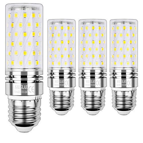 Sauglae E27 Bombilla de Maíz LED 15W, 4000K Blanco Neutro, 120W Incandescente Bombillas Equivalentes, 1500Lm, Edison Tornillo...