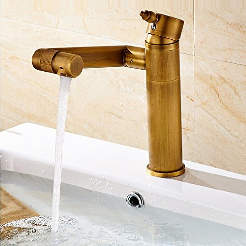 ZHFC eu - bad heien und kalten wasserhahn 360 grad - kupfer wasserhahn hotel luxurisen einzelzimmer loch becken wasserhahn