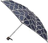 Orla Kiely Tiny 2-Paraguas Mujer, Mehrfarbig - Multicoloured (Linear Leaf Slate) L744-Linear Leaf Slate