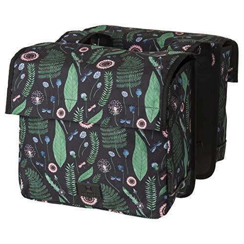 FastRider Nyla Kids Doppelte Fahrradtasche für Gepäckträger, 15L Kinder Seitentasche Fahrrad, Gepäckträgertasche für Kinder, Wasserabweisend, Reflektierend, 100% Recyceltes Polyester - Schwarz