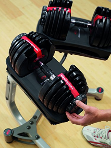 Bowflex SelectTech Adjustable Weights and Dumbbells, Single Dumbbell 552 (2 - 24 kg)
