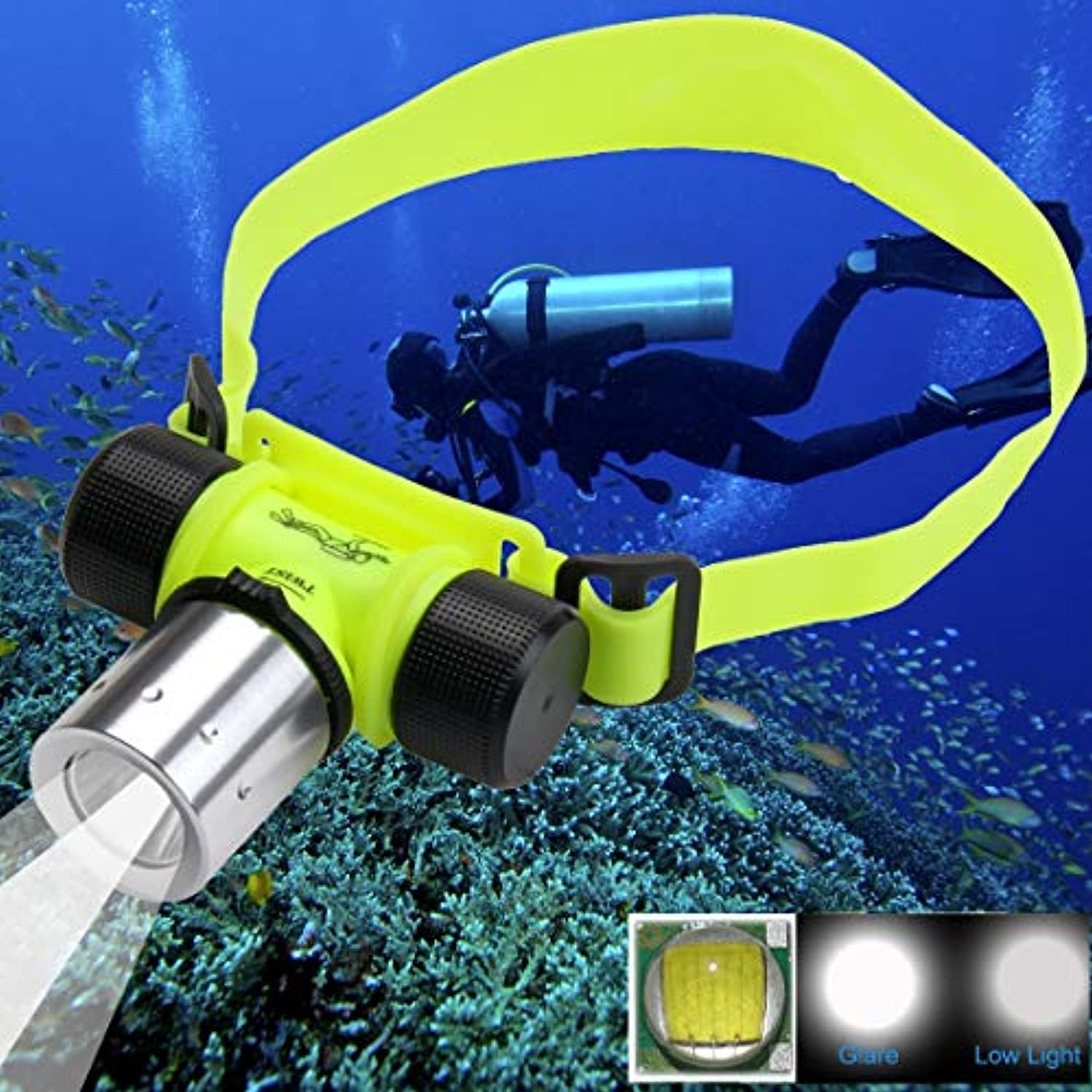Ouyingmatealliance LED Light LED-Licht 30m Diving Flashlight-Scheinwerfer, CREE T6 3-Modus-Zoom-LED Starkes Licht