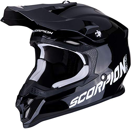 SCORPION 46-100-03-04 Casque DE Moto, Noir, Medium