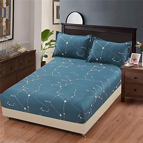 3 piezas 100% algodón rayas cama sábana bajera elástica colchón protector hogar hotel doble matrimonial tamaño king colcha