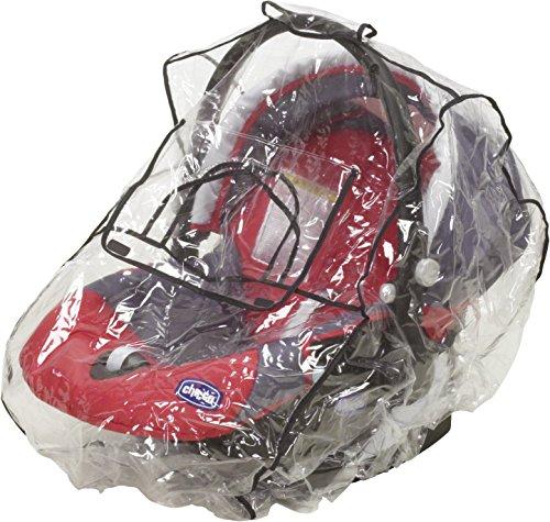 Playshoes Regenschutz für Babyschale, durchsichtige universal Regenhaube für Babytrage mit Kontaktfenster, transparent, one size