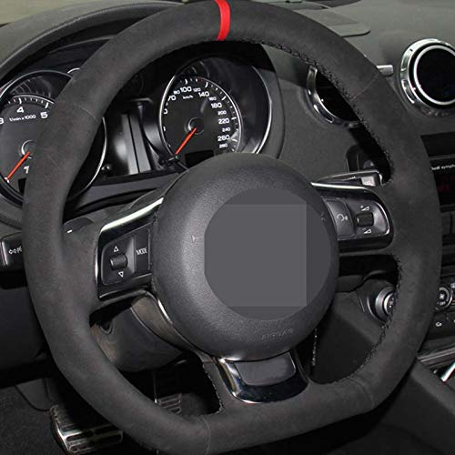 WANGXI Hand-Sewn Car Steering Wheel Cover Automobile Handle Cover,for Audi TT 2008-2013
