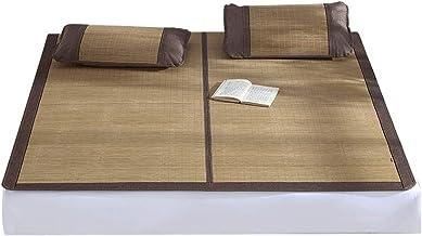 ZHI CHENG Double-Sided Mattress Summer Bamboo mat Bamboo mat Sleeping Cooling Bamboo mat Non-Slip Breathable Sleeping mat ...