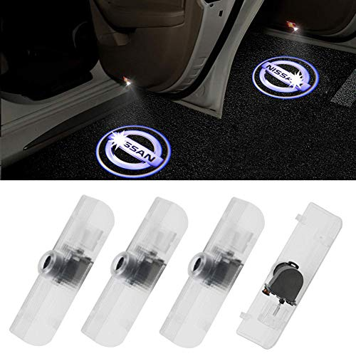 Grolish Easy Installation Car Door LED Lighting Logo Projector Welcome Light For Nissan Altima/Armada/Maxima/Quest/Titan(4-Pack)