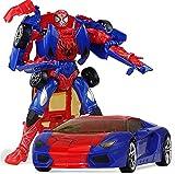 siyushop Spiderman Manual Deformation Coche Juguete Autobots Robot Modelo Modelo Niños Niños Regalo Figuras De Acción, Rojo