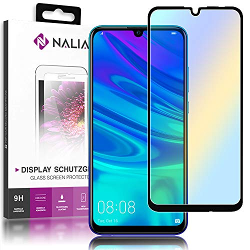 NALIA beschermend glas compatibel met Huawei P smart 2019, 9H HD fullcover display bescherming echt glasfolie, mobiele telefoon beschermer scherm-afdekking beschermfolie screen protector gehard glas - transparant