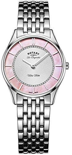 LB90800/07Rotary da donna orologio al quarzo Swiss Made in acciaio INOX