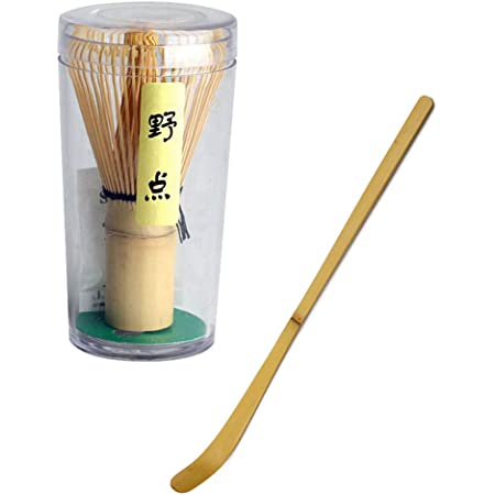 NAROBAN 茶道具 茶筅+茶杓 竹製 2点セット(野点+茶杓)