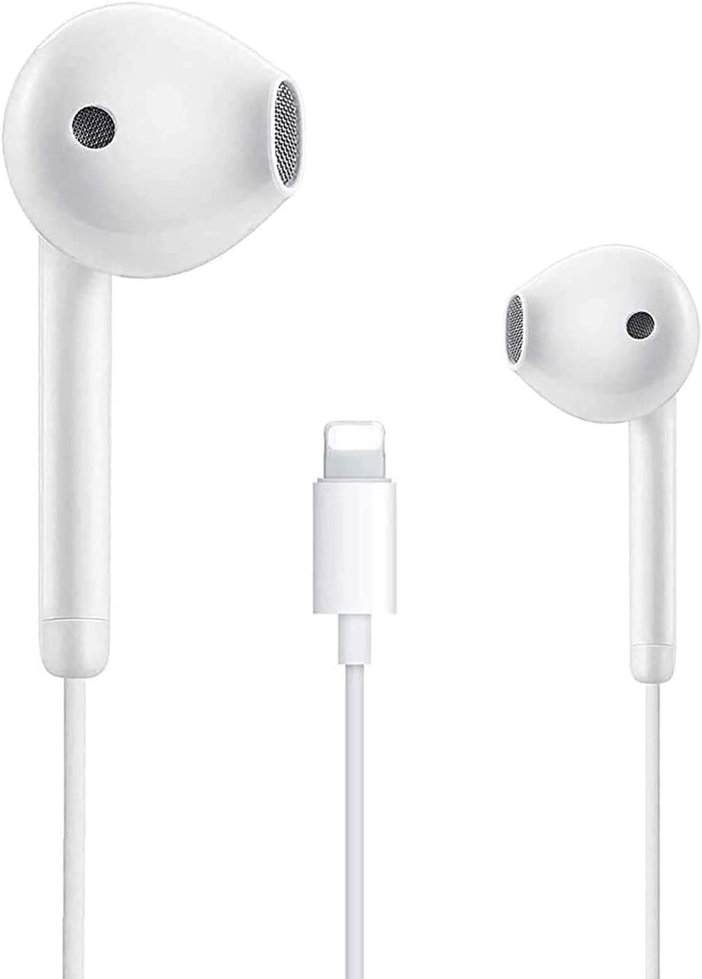 Lighting Connnecter Earbuds Earphones Wired Stereo Sound Headphones with Microphone Compatible with Apple iPhone 13/12/11 Mini Pro 7/8 Plus X/Xs/XR max iPad