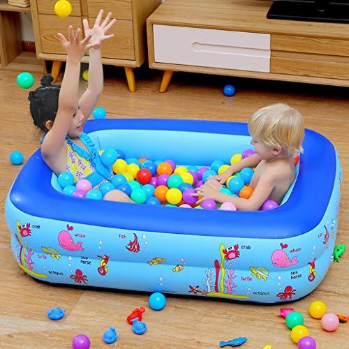 Aufblasbarer Kinderpool, verschleißfestes, verdicktes Quadrat, zusammenklappbar, langlebig, sehr groß, weich ab 6 Jahren, aufblasbarer Lounge-Pool für Kinder, Erwachsene, Kleinkinder und Kleinkinder