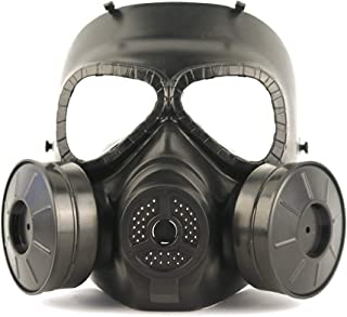 LUCKYYAN Tactical Dummy Anti Fog Gas Face Mask M05 with Double Filter Fan for Cosplay Protection Zombie Soldiers Halloween