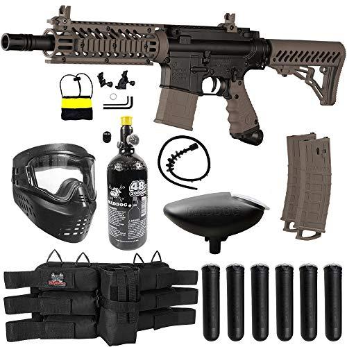 Maddog Tippmann TMC MAGFED Titanium HPA Paintball Gun Marker Starter Kit - Tan