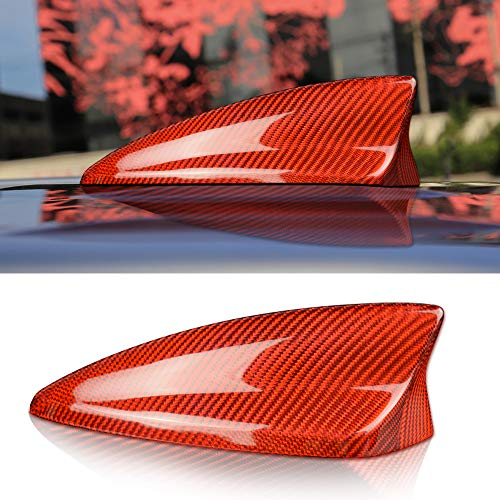 NEFELI Cubierta de fibra de carbono para antena de coche Cadillac XT4 XT5 Camaro accesorios (rojo)