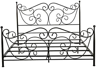 Christopher Knight Home Horatio King Size Metal Bed Frame, dark bronze