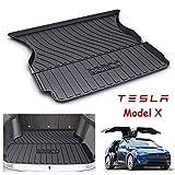 ZLMFBMStomsHan Liner Cargo pour Tesla Modèle X/Model X,Caoutchouc Robuste Tapis de Coffre Arrière Personnalisé, Tapis de Plancher imperméable Floormat de Protection Contre Les intempéries,5Seats