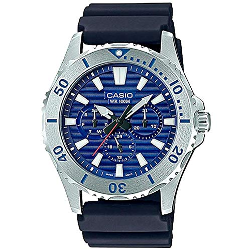 Casio MTD1086-2AV Men's Resin Band Multifunction Blue Dial 100M Sports Watch