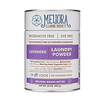 Meliora Cleaning Products Laundry Powder, Lavender, 128 HE (64 Standard) Loads