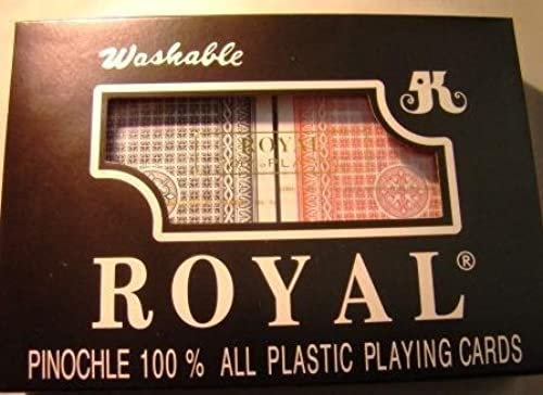 comprar nuevo barato Pinochle Playing Cards Option  Big Number Plastic Plastic Plastic Cards by Royal  gran descuento