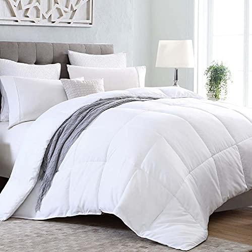 Kingsley Trend Queen Comforter Duvet Insert, Fluffy Queen Size Comforter Home Bedding White Comforter Soft Down Comforter Cooling Summer Comforter...