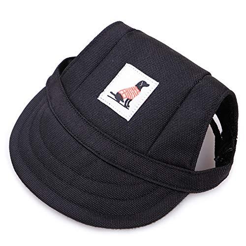 SHENGNONG Sommer Hund Hut Haustier Hund Baseball Cap mit Ohrlöcher und Kinnriemen