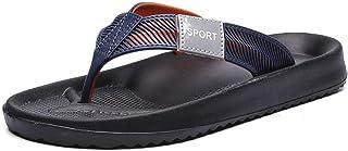Comfortable/beautiful sandals and slippers Flip Flops Men'S Sandals Flat Heel Beach Shoes Summer Men'S Shoes Clip Feet Slippers (Color : Purple)