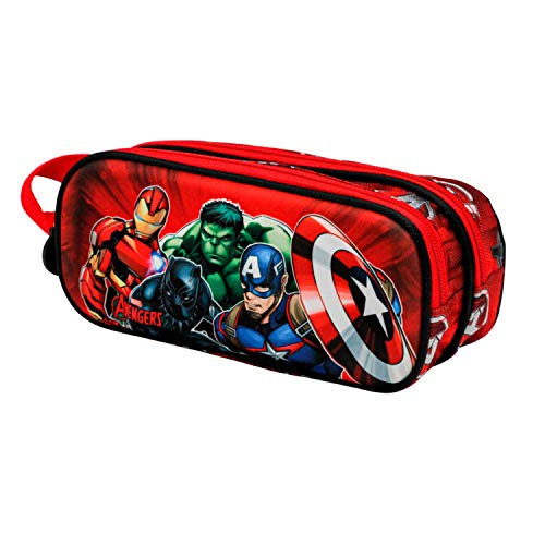 KARACTERMANIA Avengers Strength-Astuccio Portatutto 3D Doppio, multicolour