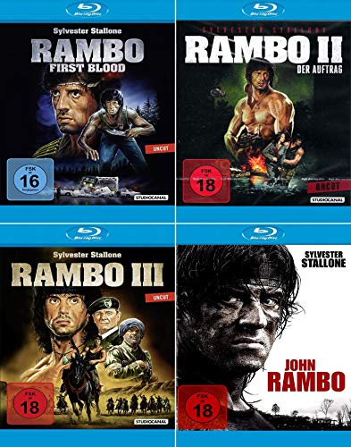 Rambo 1 - 4 Collection (John Rambo) [4er Blu-ray-Set]