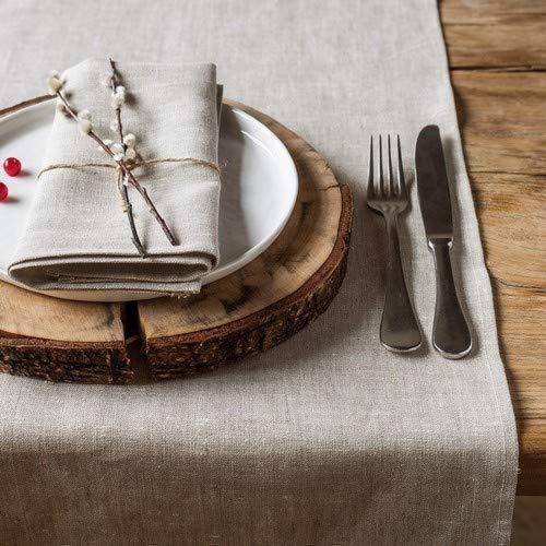 Leinen Tischläufer - Läufer - Tischband - Farbe Natur Beige - 45 x 150 cm