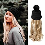 AynnQueen Beanie with Hair Attached for Women...
