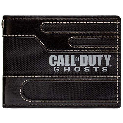 Activision Call of Duty Ghosts Genähte Stil Schwarz Portemonnaie Geldbörse