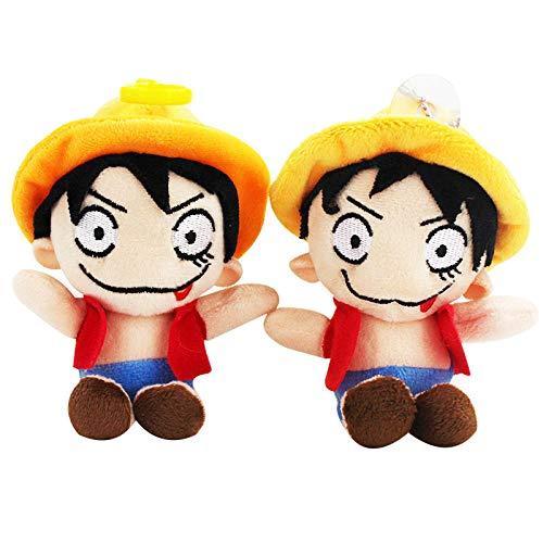 Rrfay Llavero de Felpa de 15 cm de una Pieza Luffy de Peluche Suave y Lindo Juguete de muñeca de Lengua Que sobresale para niños