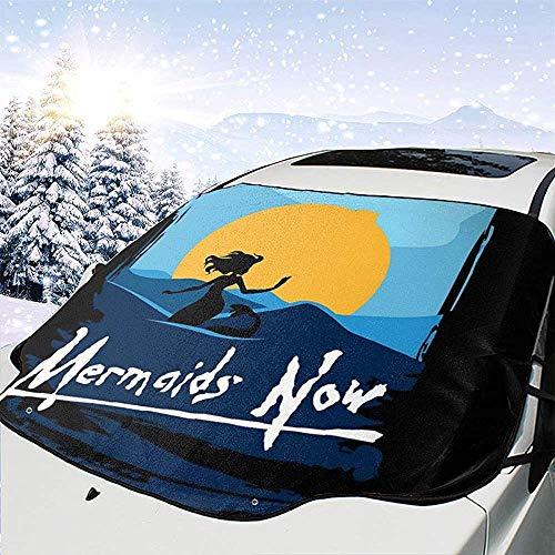 MaMartha Car Windshield Snow Cover Meerjungfrauen jetzt Apokalypse jetzt Auto Windschutzscheibe Schneedecke,Eisentfernung Sonnenschutz,Fit für Universalautos,147x118cm