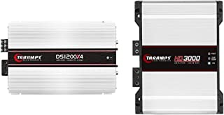 $567 » Taramp's 1200W 4 CH 2 OHM CAR AMP, White (DS 1200x4) & HD 3000 2 Ohms Class D Full Range Mono Amplifier