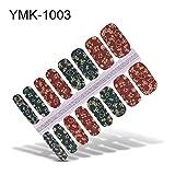 16 Publicaciones / 1 Hoja de Uñas de Arte Pegatinas UV Gel Polish Nail Wraps Strips Cubierta Completa Colorido Nail Polish Stickers Decals Manicure Tool-YMK-1003-