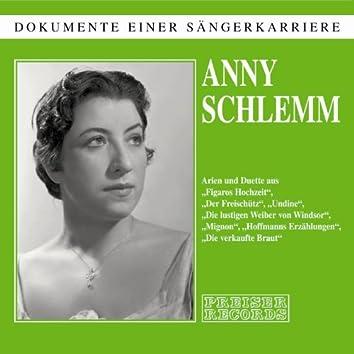 Anny Schlemm - Dokumente einer Sängerkarriere