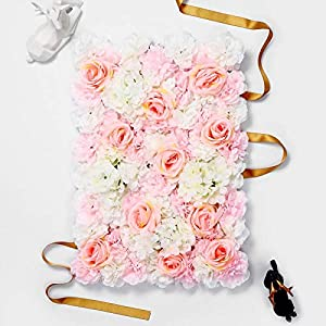PROPHOTOCONNECT 3D Artificial Flower Wall Party Home Store Photo Decor Backgound Size 16″ x 24″ #N1